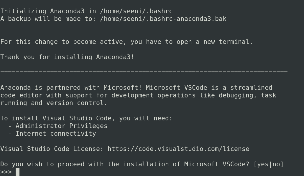 You can install VS Code with Anaconda
