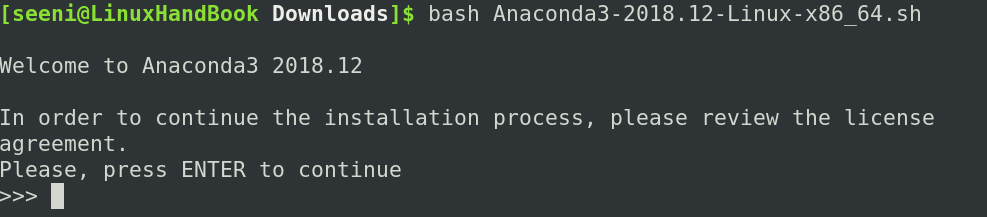 Run Anaconda bash script