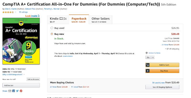 Comptia Dummies