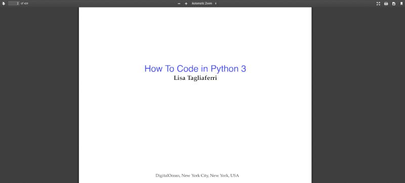 Digitalocean Python Guide