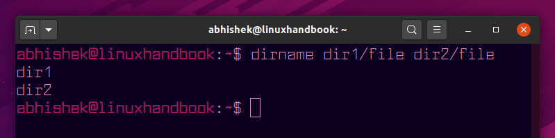 dirname command