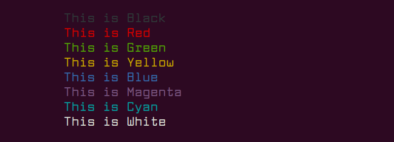 Echo Command Color