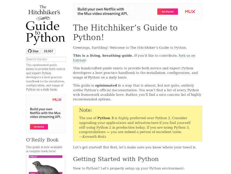 Hitchhickers Python