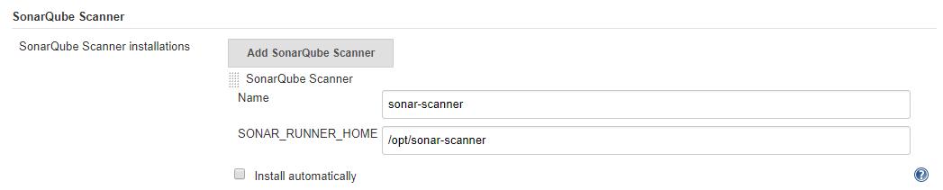 SonarQube scanner setup in Jenkins