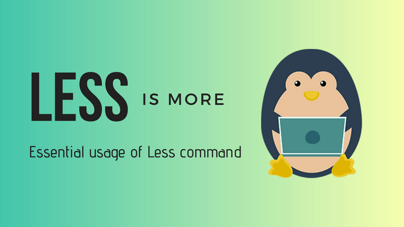 Less Command examples in Linux