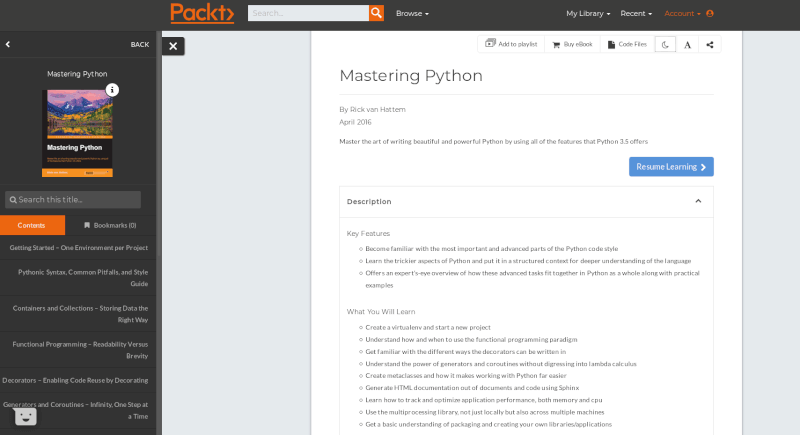 Packt Mastering Python