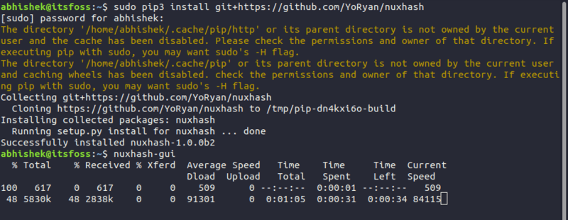 Running Nuxhash for NiceHash mining on Linux