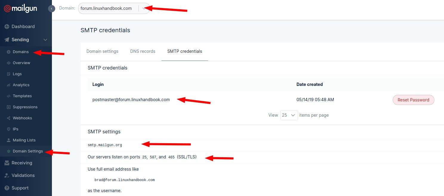Get SMTP server settings