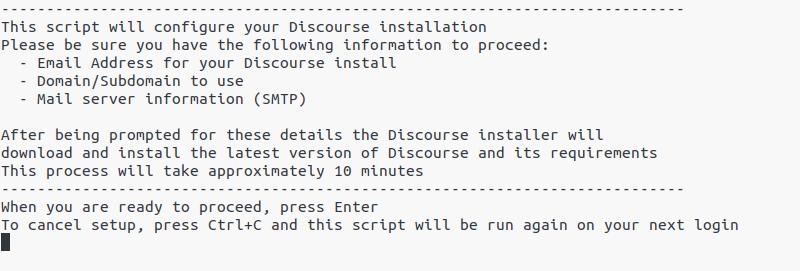 Discourse Configuration