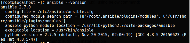Check Ansible version on Linux