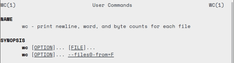 wc command syntax