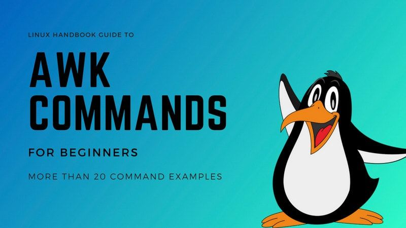 AWK commands explained with examples