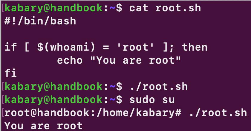 if statement in bash script