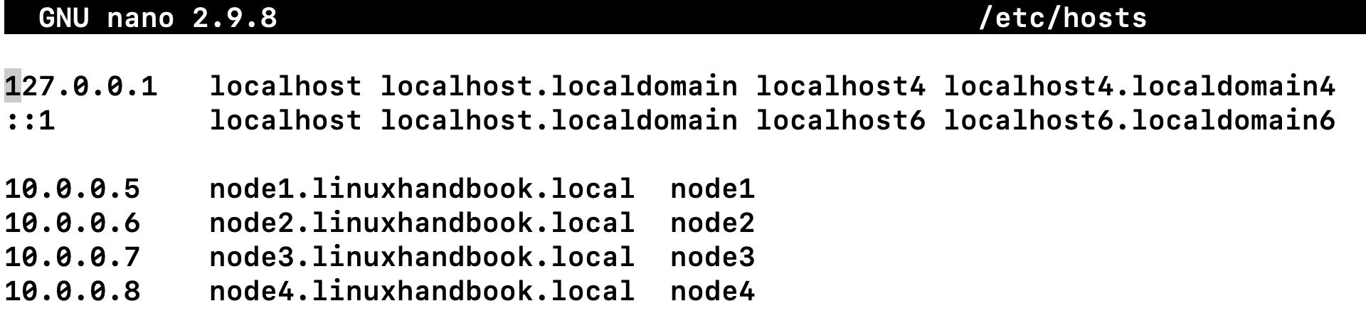 Ansible nodes