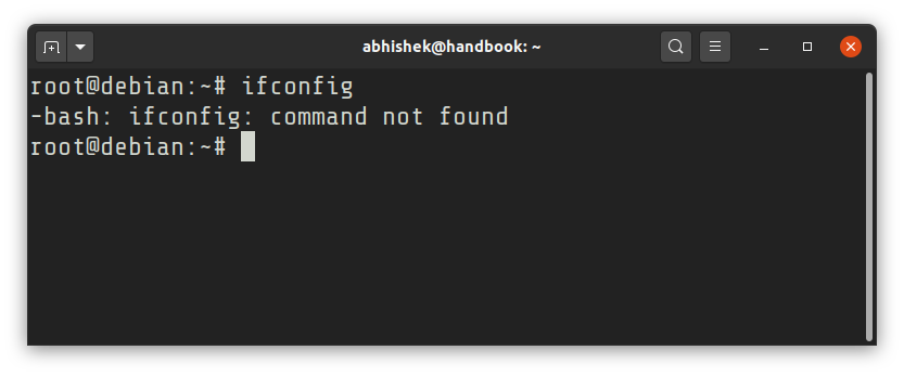bash ifconfig command not found in Debian