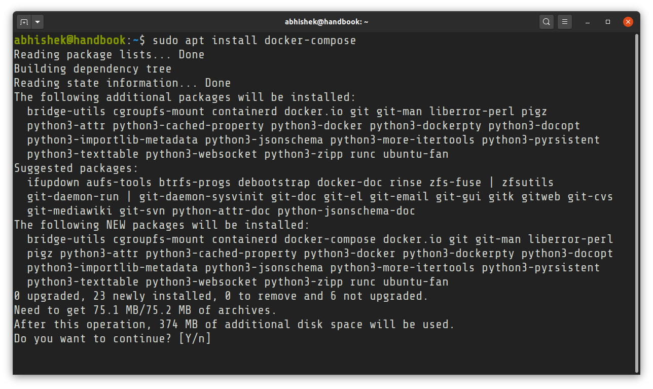 Installing Docker Compose on Ubuntu