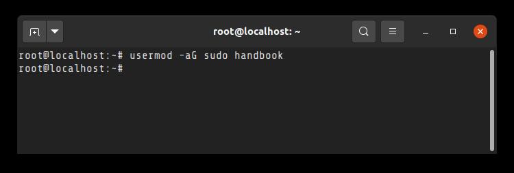 Adding user to sudo list