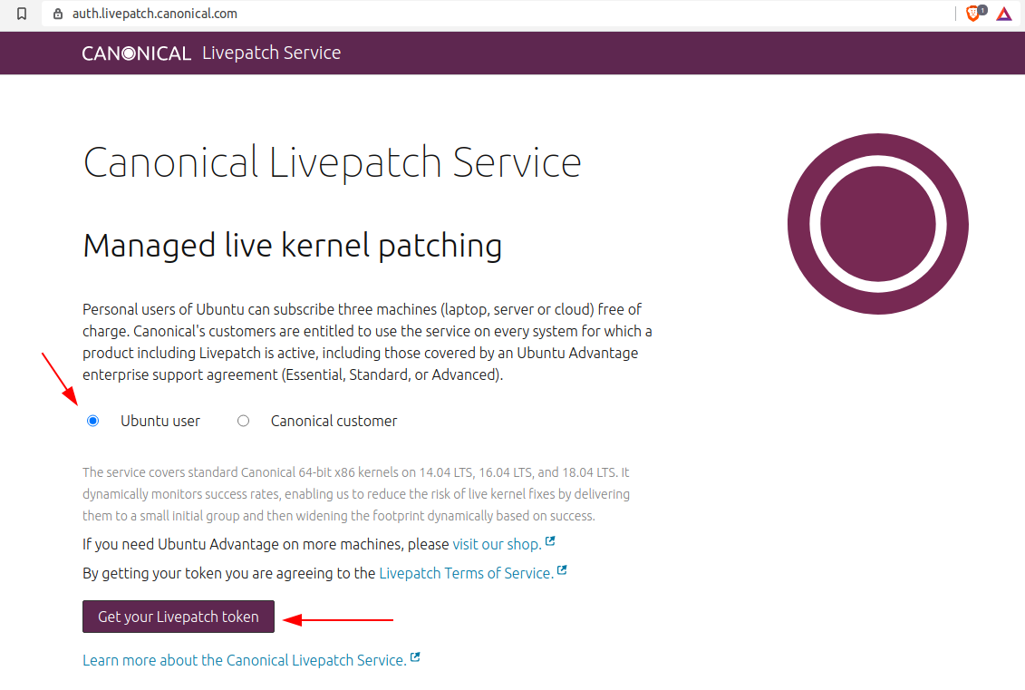 Live kernel patching for Ubuntu servers