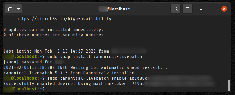 Enabling livepatching on Ubuntu server