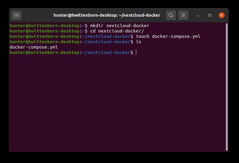 Nextcloud deployment with Docker