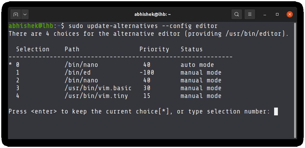 Making Vim the default editor in Ubuntu